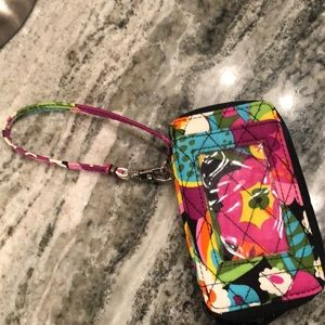 Authentic vera bradley wristlet